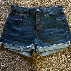Gap high waisted jean shorts